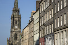 Tron Kirk Church and Royal Mile Street; Edinburgh Royalty Free Stock Images