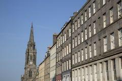 Tron Kirk Church and Royal Mile Street; Edinburgh. Scotland Royalty Free Stock Photography