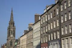 Tron Kirk Church and Royal Mile Street; Edinburgh. Scotland Royalty Free Stock Photo