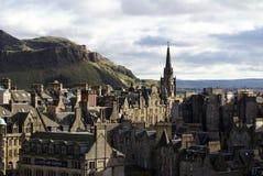Tron Kirk Spire en ciudad vieja en Edimburgo imagen de archivo libre de regalías