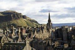 Tron Kirk Spire i gammal stad i Edinburg royaltyfria bilder