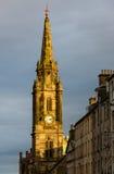 Tron kościół zegarowy wierza w Edynburg, Szkocja Zdjęcia Royalty Free