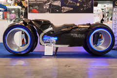 Tron motorbike at EICMA 2013 in Milan, Italy Stock Photos