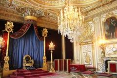 Tron Napoleon, Fontainebleau, Francja Fotografia Royalty Free