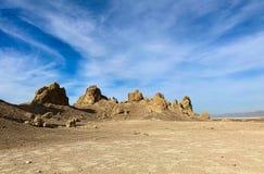 Tron pinacles nie daleko od Śmiertelnego Dolinnego parka narodowego, fotografia stock