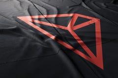 Tron TRX cryptocurrency illustration stock photos