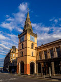 Tron Theatre, Glasgow. Tron Theatre awash in light from setting sun and takend from Argyle Street in Glasgow. This building is a Glasgow landmark at Trongate in Royalty Free Stock Photography