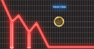 Gold Tron TRX Coin Accelerates And Takes Off Up The Arrow Of The
