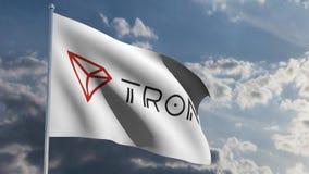 Tron TRX sztandar w wiatrowej 3d animacji zbiory