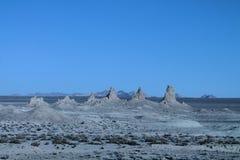 Trona-Berggipfel in der panoramischen Reihe Lizenzfreies Stockfoto
