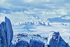 Trona Pinnacles Art FX Sci-Fi style Royalty Free Stock Photography
