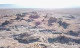Trona Pinnacles California. Aerial shoot from a Drone Mavic pro Royalty Free Stock Photos