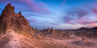 Trona Pinnacles Royalty Free Stock Photos