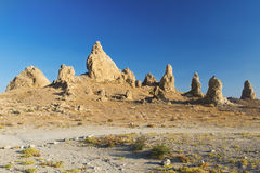 Trona Pinnacles. Are nerarly 500 tufa spires hiddeen in California Desert National Conservation Area, not far from the Death Valley National Park, California Stock Image