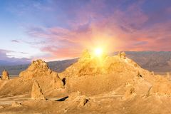 Trona Pinnacles in the USA Stock Photography