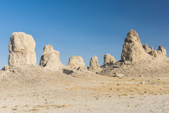 Trona Pinnacles. Are nerarly 500 tufa spires hiddeen in California Desert National Conservation Area, not far from the Death Valley National Park, California Royalty Free Stock Photography