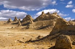 Trona Pinnacles Peaks. The Trona Pinnacles are an unusual geological feature in the California Desert National Conservation Area Stock Photography