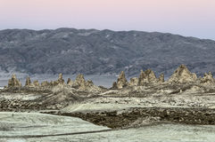 Trona Pinnacles, Sears Valley. Trona Pinnacles in twilight, Searles Valley, California Royalty Free Stock Image