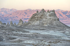 Trona Pinnacles, Sears Valley. Trona Pinnacles in twilight, Searles Valley, California Stock Photography