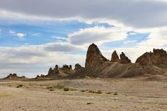 Trona Pinnacles in desert of Southern California stock photos