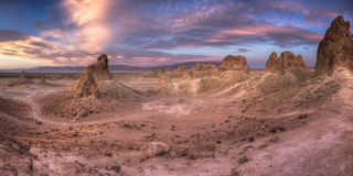 Trona Pinnacles Sunset Stock Image