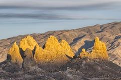 Trona Pinnacles sunset Stock Photo