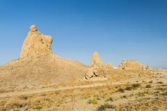 Trona Pinnacles. Are nerarly 500 tufa spires hiddeen in California Desert National Conservation Area, not far from the Death Valley National Park, California Stock Photography