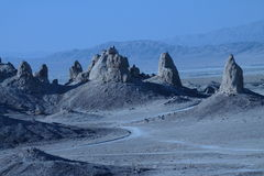 Trona setting shows Pinnacles from Sci-Fi setting Stock Photography