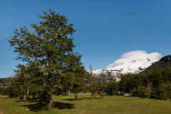 Tronador mountain in southern Andes Stock Image