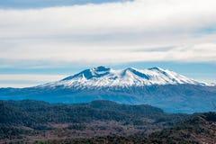 Tronador stratovolcano i sydliga Anderna Arkivbilder