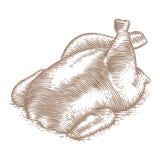 Tronc cuit au four de poulet Images libres de droits