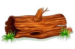 Tronc d'arbre avec le champignon illustration stock