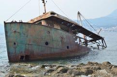 Tronco arrugginito della nave immagine stock libera da diritti