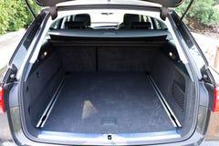 Tronco de coche dentro Foto de archivo libre de regalías