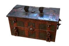 Tronco de madeira velho com elementos do metal fotografia de stock royalty free
