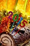 tronco di Natale 2015 del yule Immagine Stock