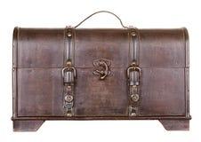 Tronco o pecho de madera aislado Imagenes de archivo