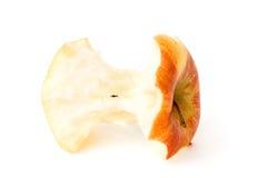 Troncone di una mela rossa isolata Immagini Stock Libere da Diritti