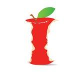 Troncone rosso della mela Fotografie Stock