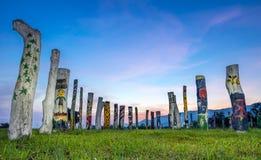 Troncos de árvore coloridos Fotos de Stock