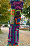 Troncs d'arbre décorés Photographie stock libre de droits