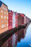 Trondeim, Norvegia Foto verticale fotografie stock