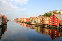 Trondheim stock afbeelding
