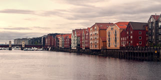 Trondheim-alte Stadt Stockfotografie
