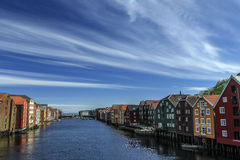 Trondheim. The beautiful city in Norway Stock Image