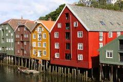 Trondheim budynki Fotografia Royalty Free