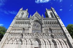 Trondheim cathedral, Norway Royalty Free Stock Photos