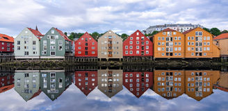Trondheim city architecture Royalty Free Stock Images