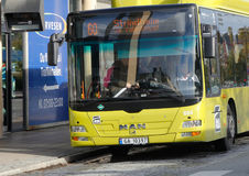 Trondheim city bus Royalty Free Stock Images