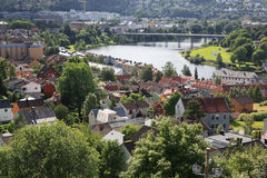 Trondheim city, Norway Royalty Free Stock Images